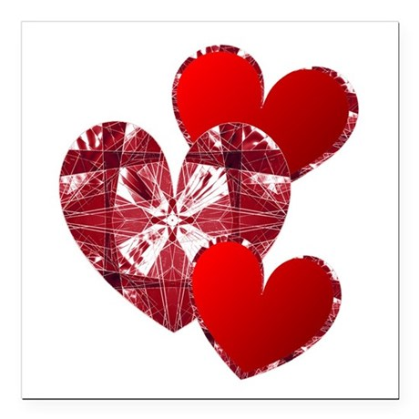 "heart9c.png Square Car Magnet 3"" x 3"""