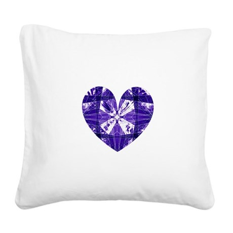 heart9b.png Square Canvas Pillow