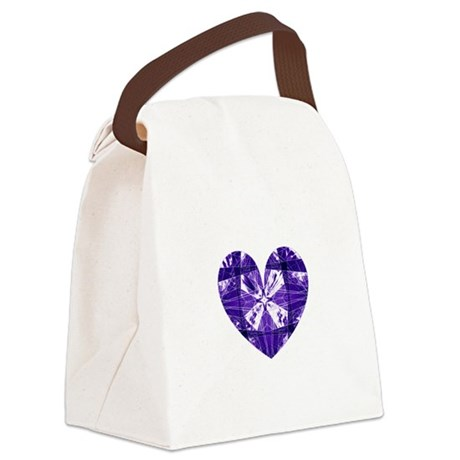 heart9b.png Canvas Lunch Bag