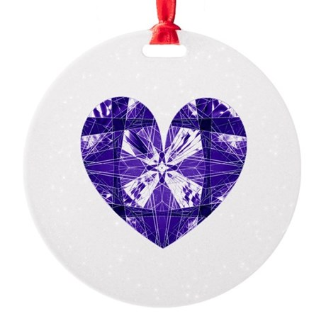 heart9b.png Round Ornament