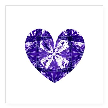 "heart9b.png Square Car Magnet 3"" x 3"""