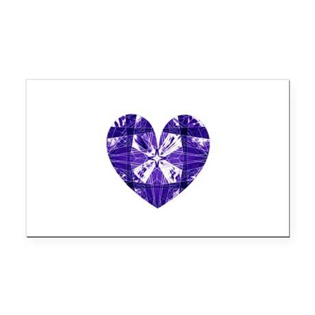 heart9b.png Rectangle Car Magnet