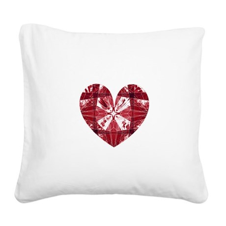 heart9a.png Square Canvas Pillow