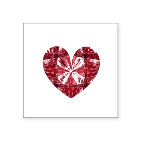 "heart9a.png Square Sticker 3"" x 3"""
