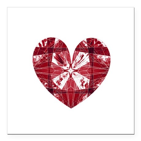 "heart9a.png Square Car Magnet 3"" x 3"""