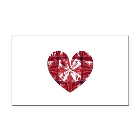 heart9a.png Rectangle Car Magnet