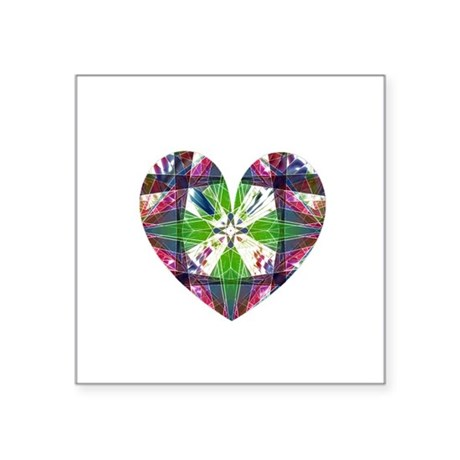 "heart9.png Square Sticker 3"" x 3"""
