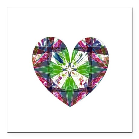 "heart9.png Square Car Magnet 3"" x 3"""