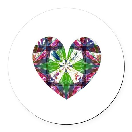 heart9.png Round Car Magnet