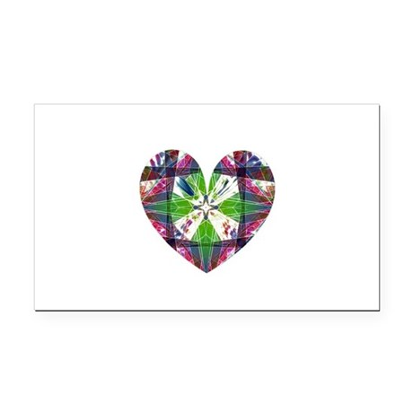 heart9.png Rectangle Car Magnet
