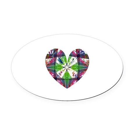 heart9.png Oval Car Magnet