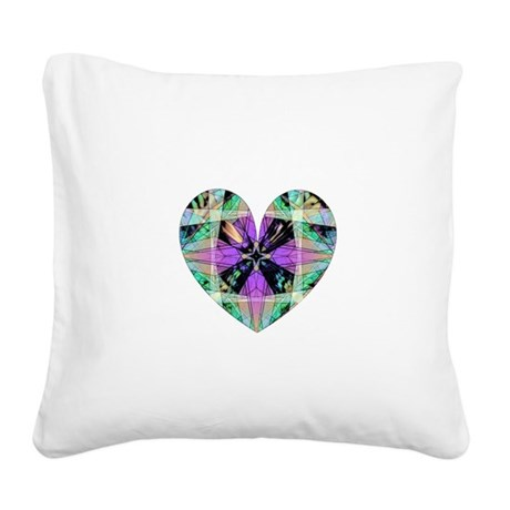 heart8.png Square Canvas Pillow