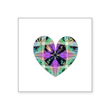 "heart8.png Square Sticker 3"" x 3"""