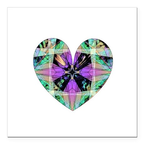 "heart8.png Square Car Magnet 3"" x 3"""