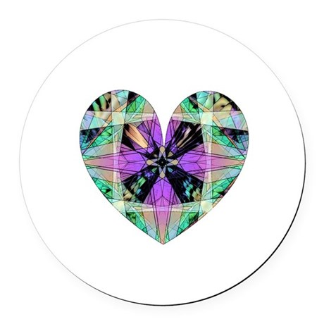 heart8.png Round Car Magnet