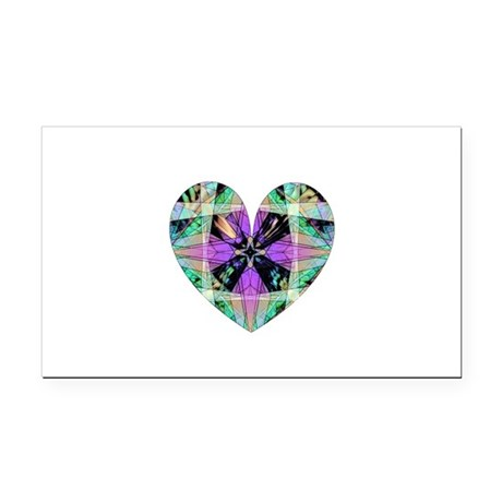 heart8.png Rectangle Car Magnet