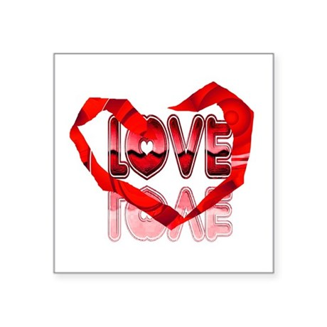 "heart7e.png Square Sticker 3"" x 3"""