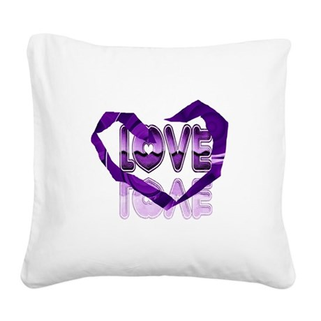 heart7c.png Square Canvas Pillow