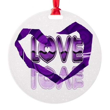 heart7c.png Round Ornament