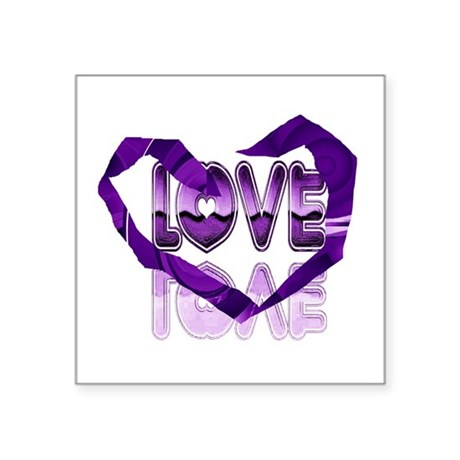 "heart7c.png Square Sticker 3"" x 3"""