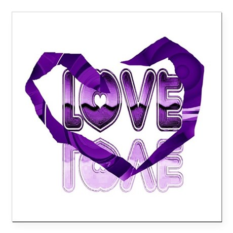 "heart7c.png Square Car Magnet 3"" x 3"""