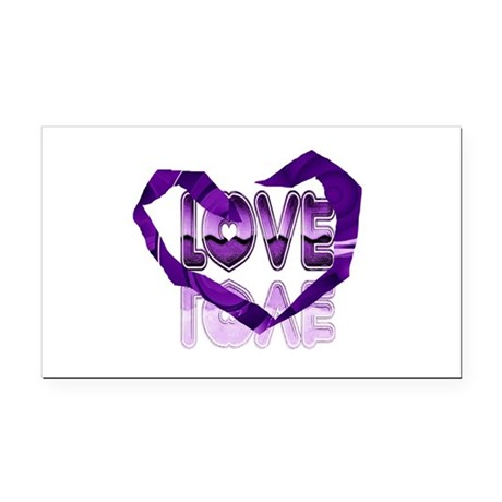 heart7c.png Rectangle Car Magnet