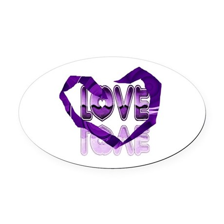 heart7c.png Oval Car Magnet