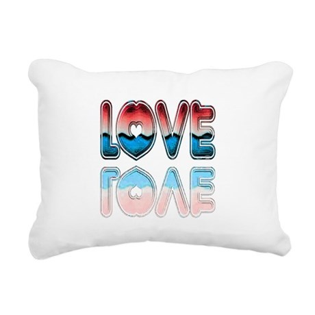 love4a.png Rectangular Canvas Pillow