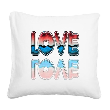 love4a.png Square Canvas Pillow