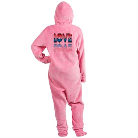 love4a.png Footed Pajamas