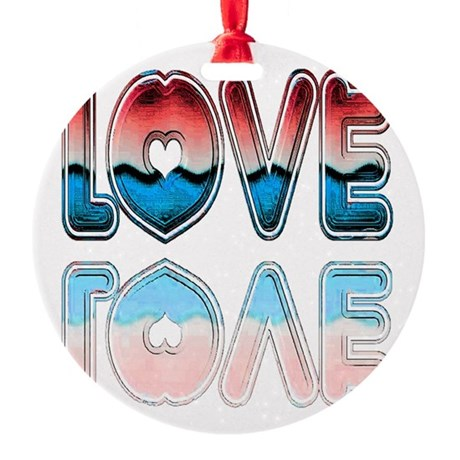 love4a.png Round Ornament