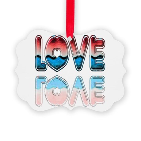 love4a.png Picture Ornament