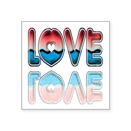 "love4a.png Square Sticker 3"" x 3"""