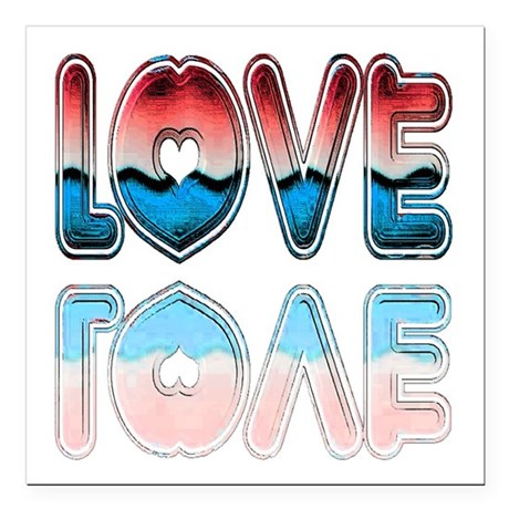 "love4a.png Square Car Magnet 3"" x 3"""