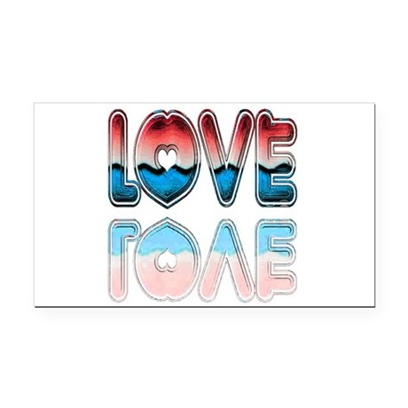 love4a.png Rectangle Car Magnet