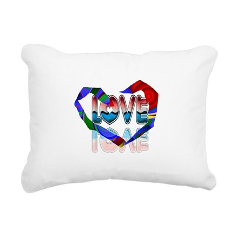 heart7b.png Rectangular Canvas Pillow