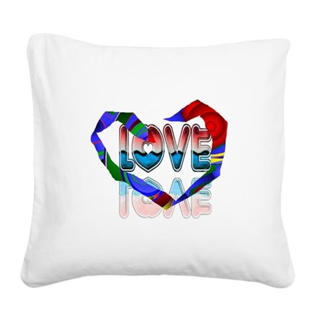 heart7b.png Square Canvas Pillow