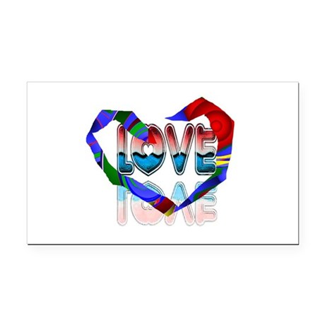 heart7b.png Rectangle Car Magnet