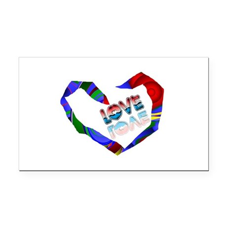 heart7a.png Rectangle Car Magnet