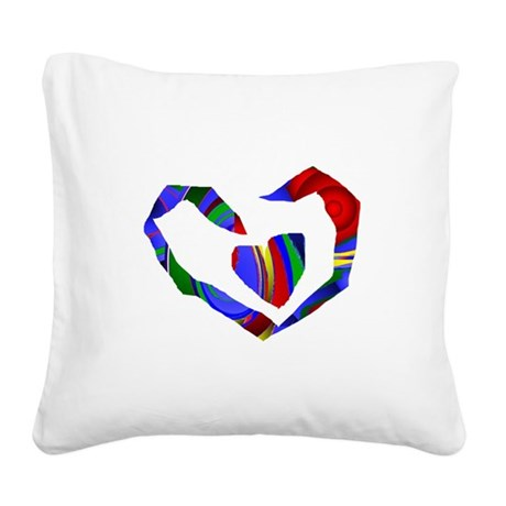 heart7.png Square Canvas Pillow