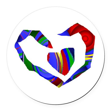 heart7.png Round Car Magnet