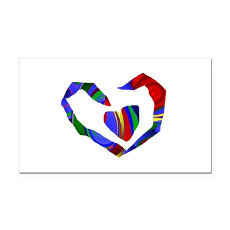 heart7.png Rectangle Car Magnet