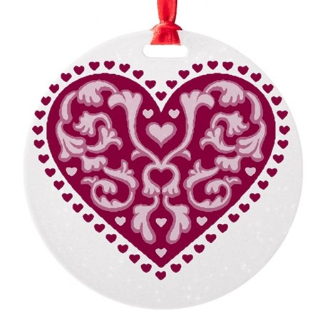 heart.png Round Ornament