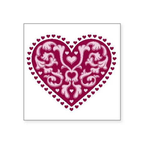 "heart.png Square Sticker 3"" x 3"""