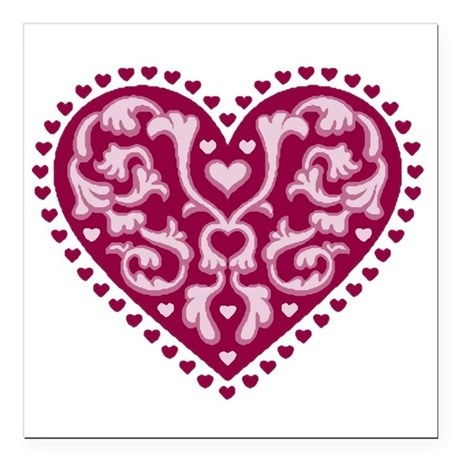 "heart.png Square Car Magnet 3"" x 3"""