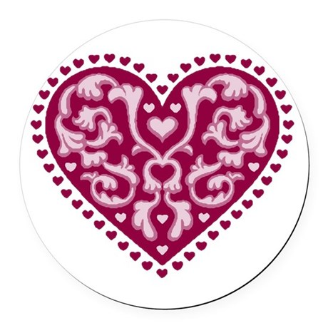 heart.png Round Car Magnet