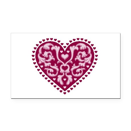 heart.png Rectangle Car Magnet