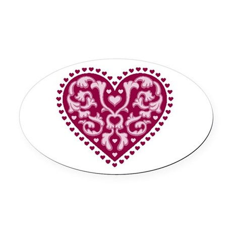 heart.png Oval Car Magnet
