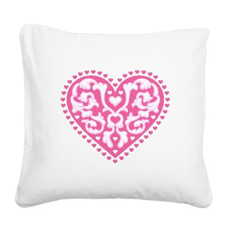 heart3.png Square Canvas Pillow