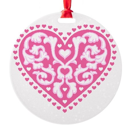 heart3.png Round Ornament
